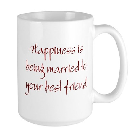 Happiness Is Large Mug