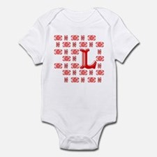 "Monogrammed ""L"" Infant Bodysuit"