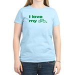 I love my bike (with image) Women's Light T-Shirt