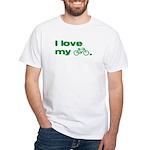 I love my bike (with image) White T-Shirt