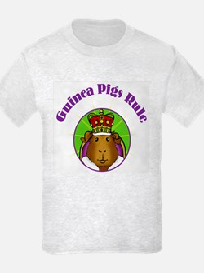 Guinea Pigs Rule (circle) Kids T-Shirt