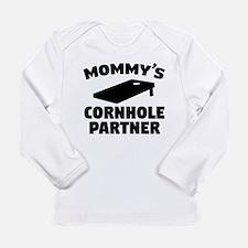 Mommys Cornhole Partner Long Sleeve T-Shirt