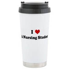 I Love A Nursing Student Travel Mug