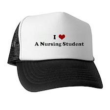 I Love A Nursing Student Trucker Hat