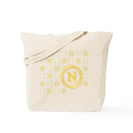 """Monogrammed """"N"""" Tote Bag"""