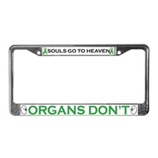 Cute Organ donor awareness License Plate Frame