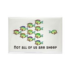 Not all are sheep Rectangle Magnet