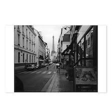 Cute Black white paris Postcards (Package of 8)