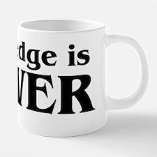 knowledge is power 20 oz Ceramic Mega Mug