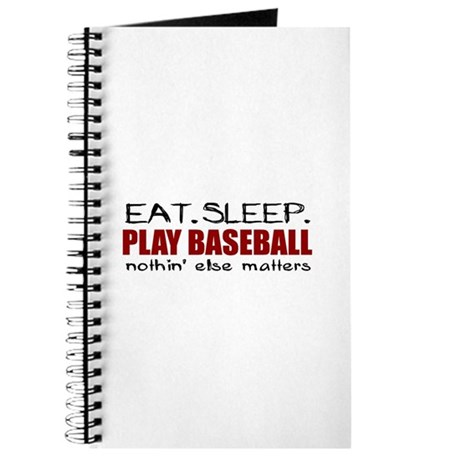 Eat Sleep Play Baseball Journal