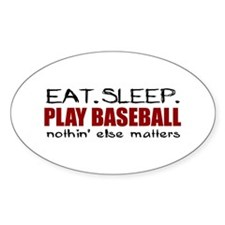 Eat Sleep Play Baseball Oval Decal
