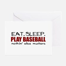 Eat Sleep Play Baseball Greeting Cards (Pk of 20)