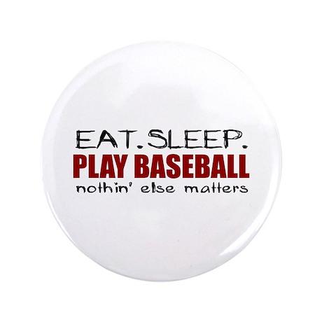 "Eat Sleep Play Baseball 3.5"" Button (100 pack)"