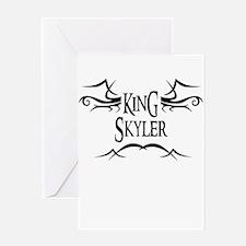 King Skyler Greeting Card