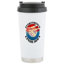 Everything's Upside Down Ceramic Travel Mug