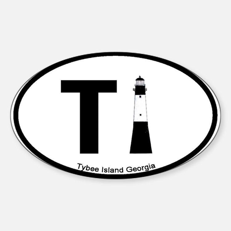Tybee Island GA Oval Decal