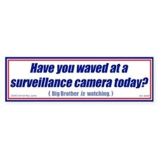 Surveillance Camera (Bumper Sticker)