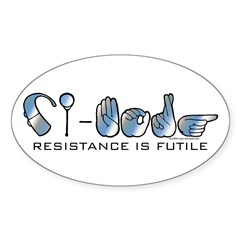 CI-Borg Resistance Oval Decal