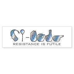 CI-Borg Resistance Bumper Bumper Sticker
