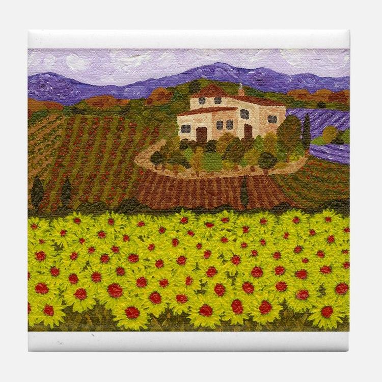 Cute Villas Tile Coaster