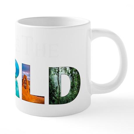 Change the World White 20 oz Ceramic Mega Mug