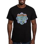 Earth Peace Menorah Men's Fitted T-Shirt (dark)