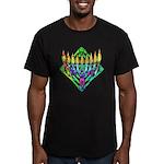 V Menorah Men's Fitted T-Shirt (dark)