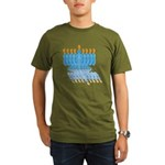 Blue Menorah Organic Men's T-Shirt (dark)