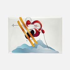 Santa's Ski Trip! Rectangle Magnet