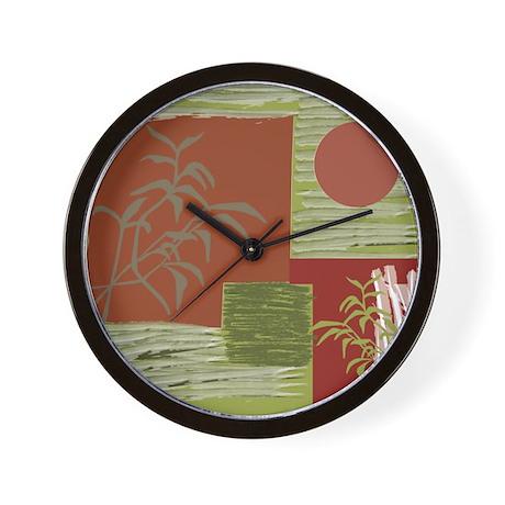 Asian Fabric Wall Clock