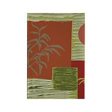 Asian Fabric Rectangle Magnet