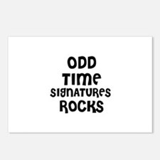 ODD TIME SIGNATURES ROCKS Postcards (Package of 8)