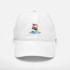 Santa Snowmobile Baseball Baseball Cap