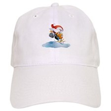 Santa Snowmobile Baseball Cap
