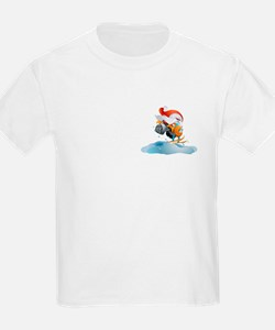 Santa Snowmobile Kids T-Shirt