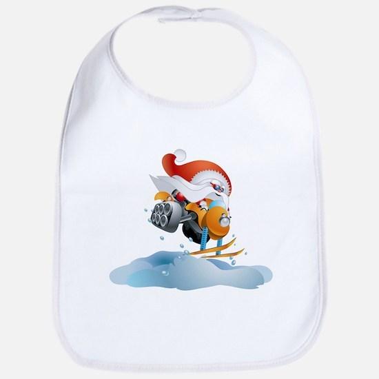 Santa Snowmobile Bib