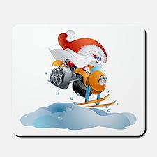 Santa Snowmobile Mousepad