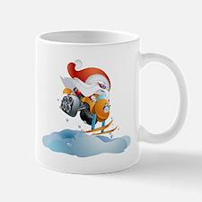 Santa Snowmobile Mug