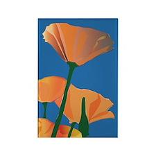Orange Poppies Rectangle Magnet