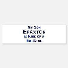 My Son Braxton Bumper Car Car Sticker