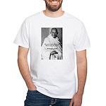 Loyalty to Cause: Gandhi White T-Shirt