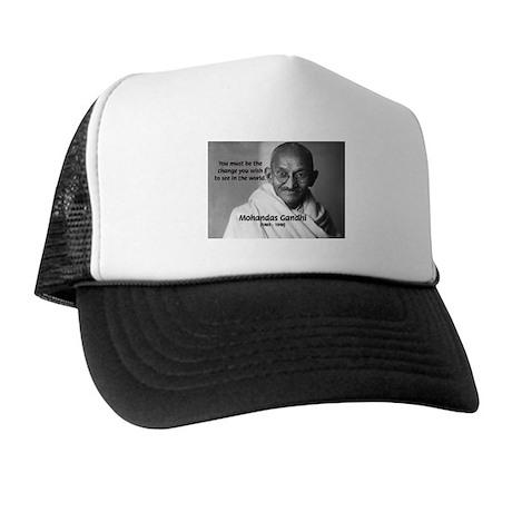 Loyalty to Cause: Gandhi Trucker Hat
