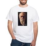Charles Darwin: Evolution White T-Shirt