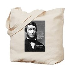 Nature: Thoreau Printed Photo Canvas Tote Bag
