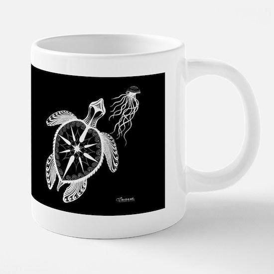 Sea Turtle Jellyfish Compas 20 oz Ceramic Mega Mug