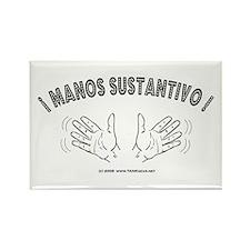 Spanish Jazz Hands Rectangle Magnet