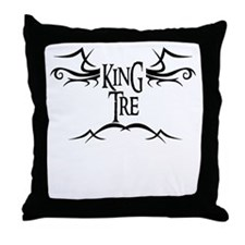 King Tre Throw Pillow