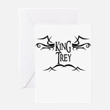 King Trey Greeting Card