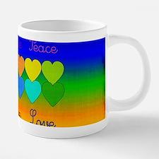 Rainbow Of Peace and Love 20 oz Ceramic Mega Mug