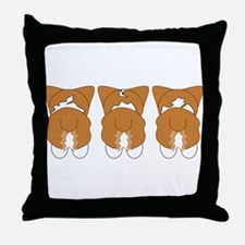Red Pembroke Throw Pillow